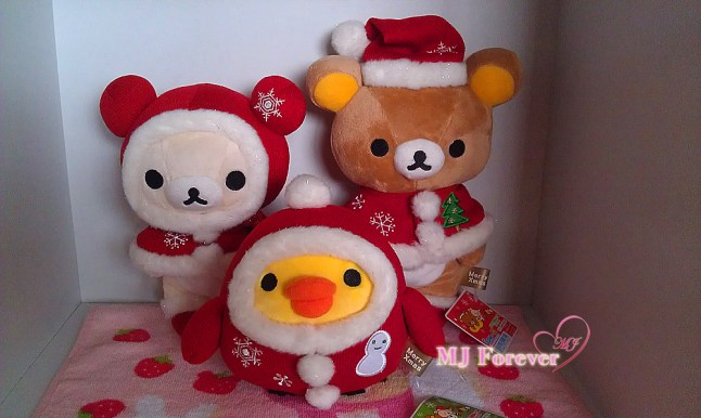 2009 Christmas Rilakkuma plush set (keeping)