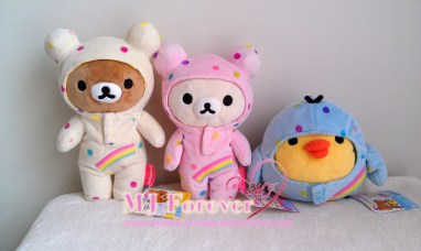 7th Anniversary Rainbow Suit Rilakkuma plush set (keeping)