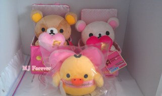 Valentine's Rilakkuma plush set (sold)
