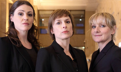 Tough act to follow: Rachel Bailey (left) and Janet Scott (right) with their guvnor, Gill Murray