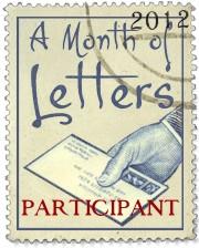 A Month of Letters participant
