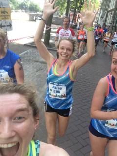 Mid-race selfie