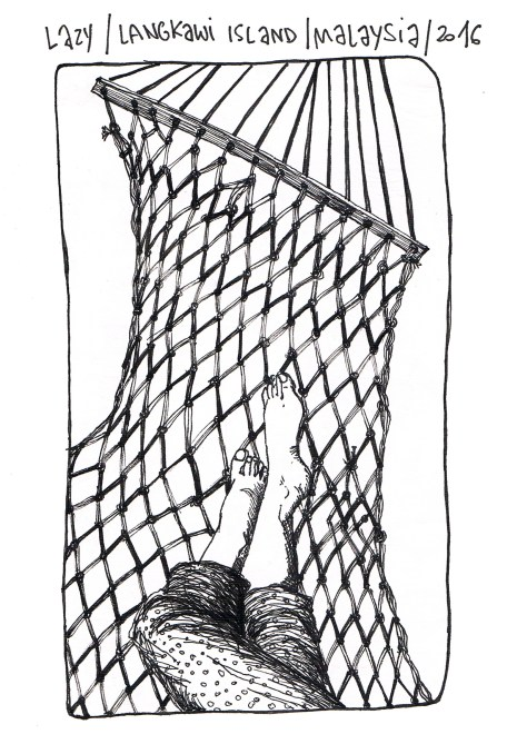 self-portrait in the hammock