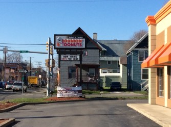 The Dunkin Donuts in Ithaca, owned by the Wolak Group, start their workers at 75 cents more per hour than minimum wage.