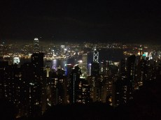 View from Victoria Peak at night