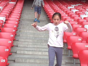 Racing in the Olympic Stadium