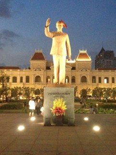 Ho Chi Minh statue in the main square outside our hotel.