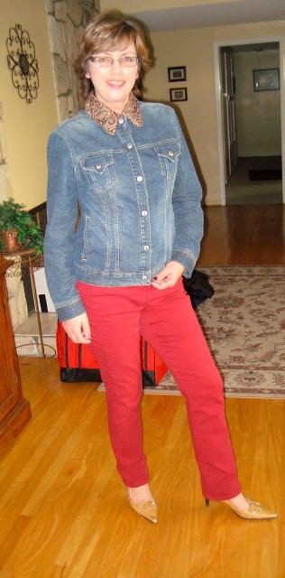 One 90's jean jacket +thrift shop collar =Refashioned Jacket4