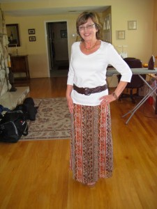 Thrift Shop Slip Dress to Refashioned Maxi Skirt!1