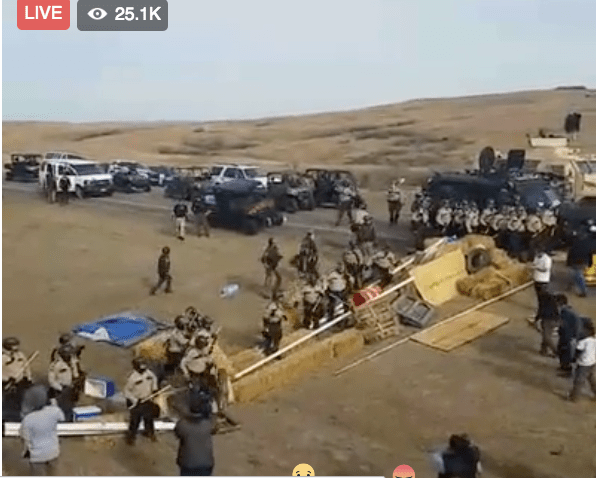 Watching history, live from Standing Rock