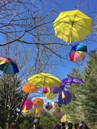 Floating Umbrellas Garden