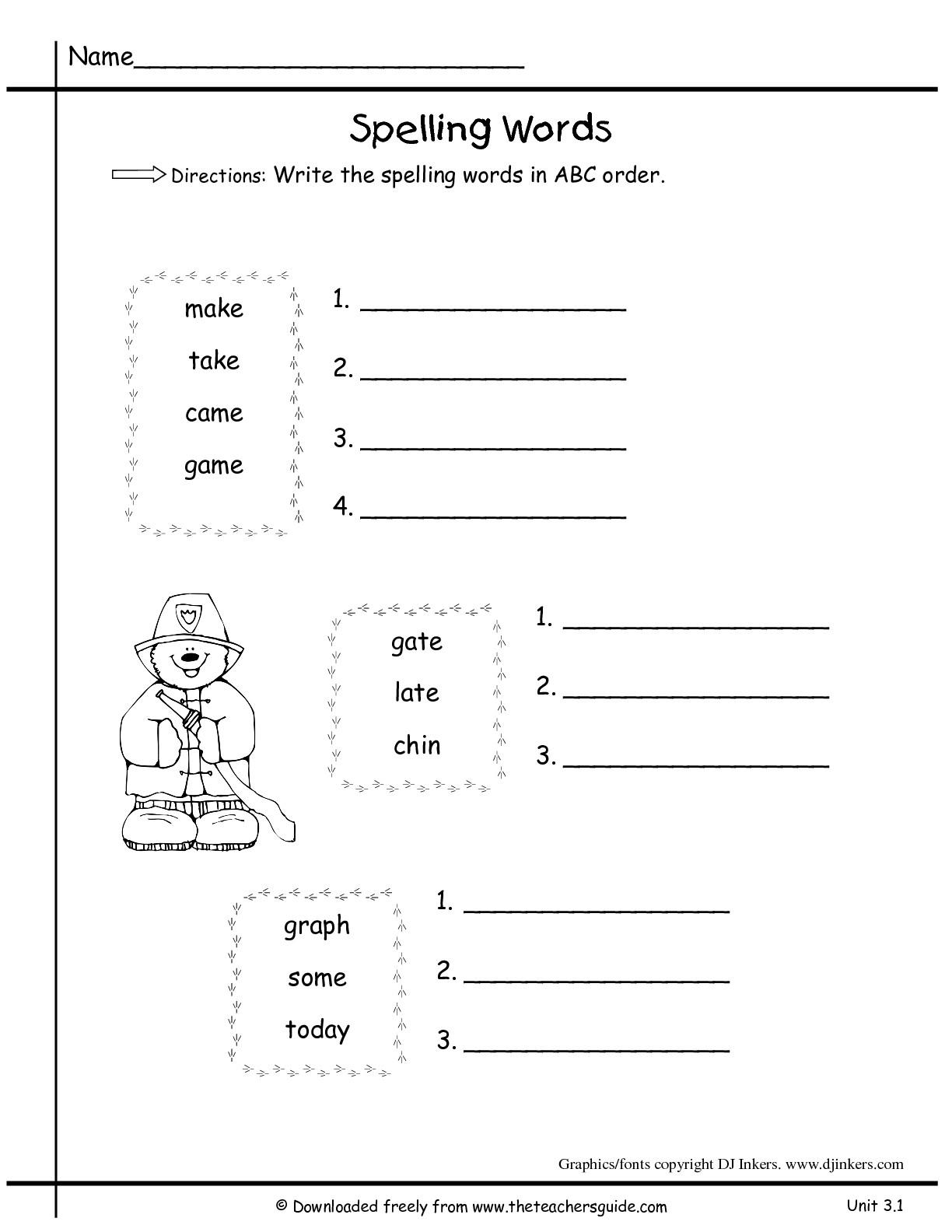 38 Alphabetical Order Worksheets