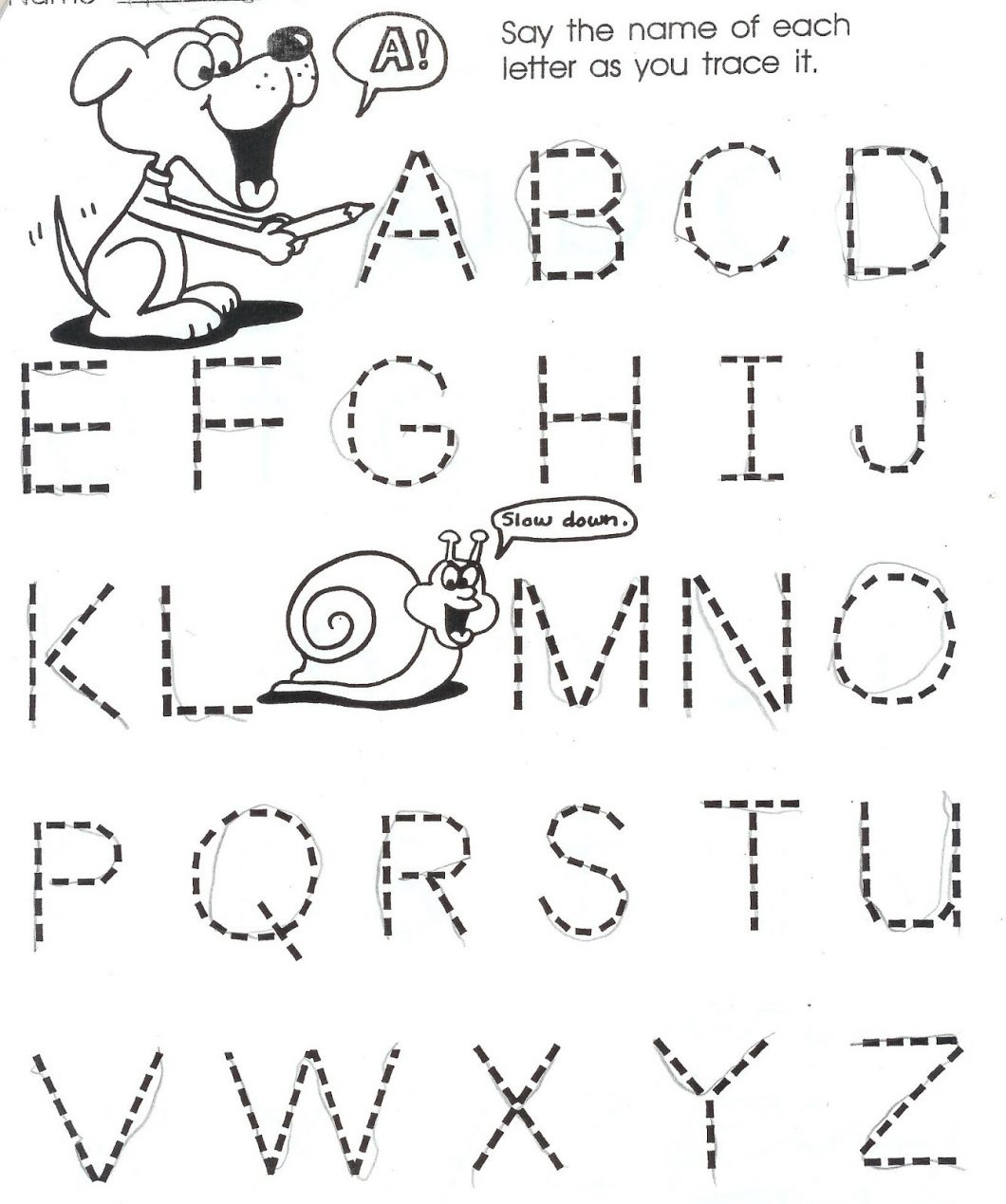 Free Worksheets For 3 Year Olds With Tracing Lines Also