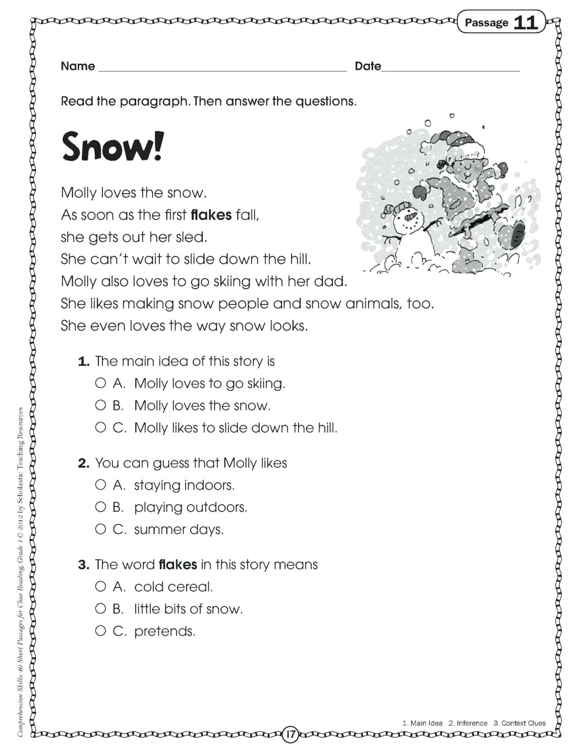 - Free Printable Reading Comprehension Worksheets For 2nd Grade لم