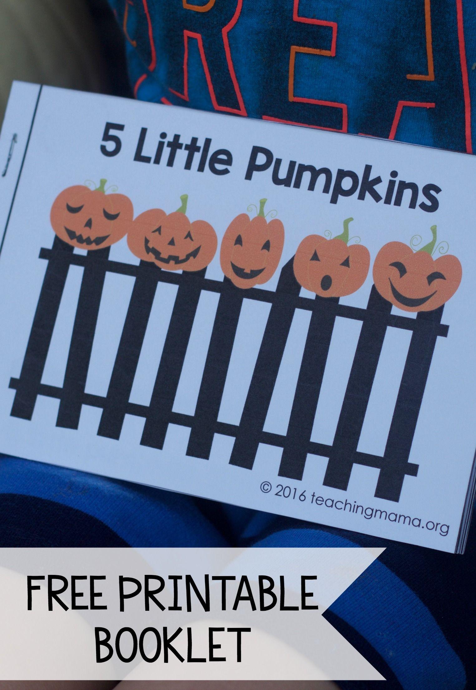 5 Little Pumpkins Book Worksheet