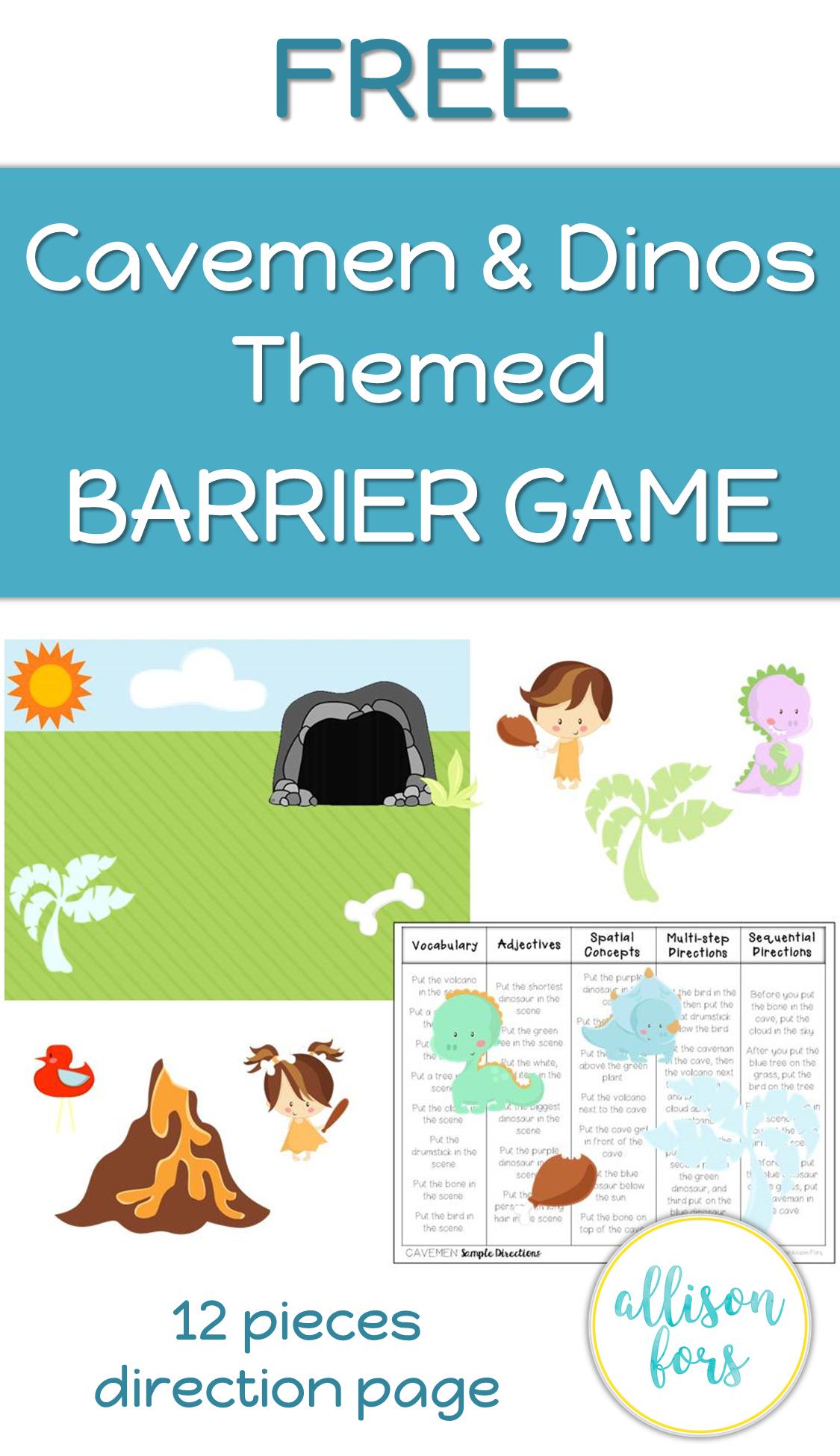 Printable Barrier Games Worksheets