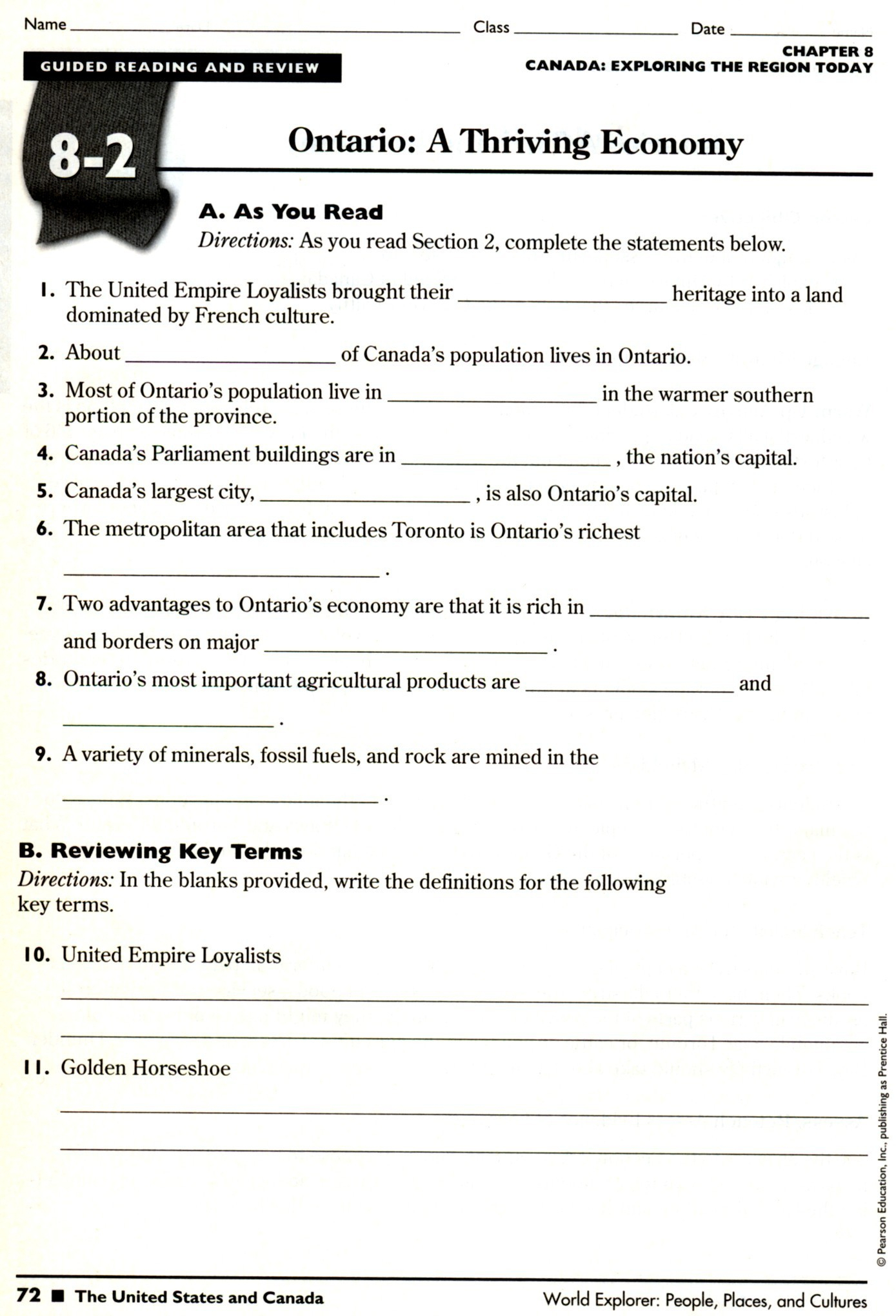 Printable Social Stu S Worksheets 8th Grade