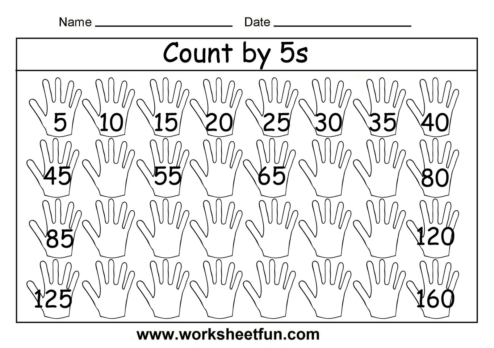 Free Skip Counting Worksheets