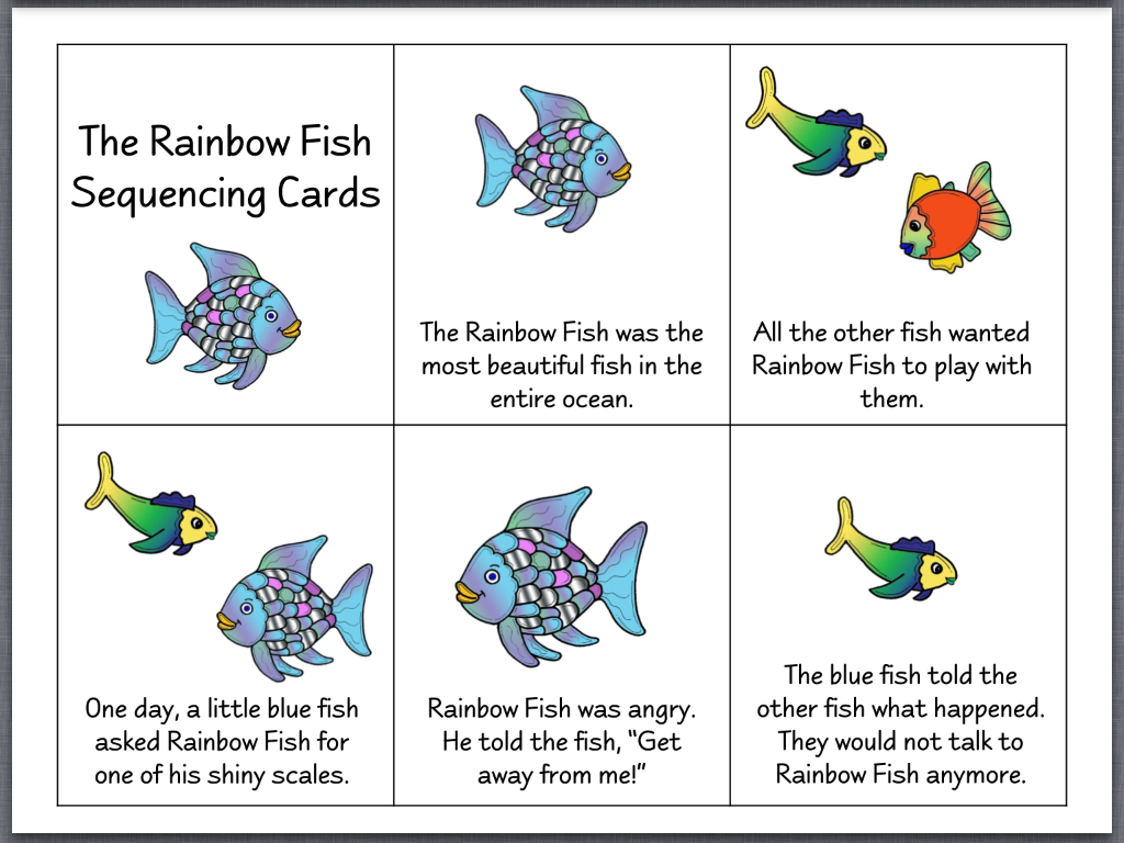 Rainbow Fish Printable Worksheets