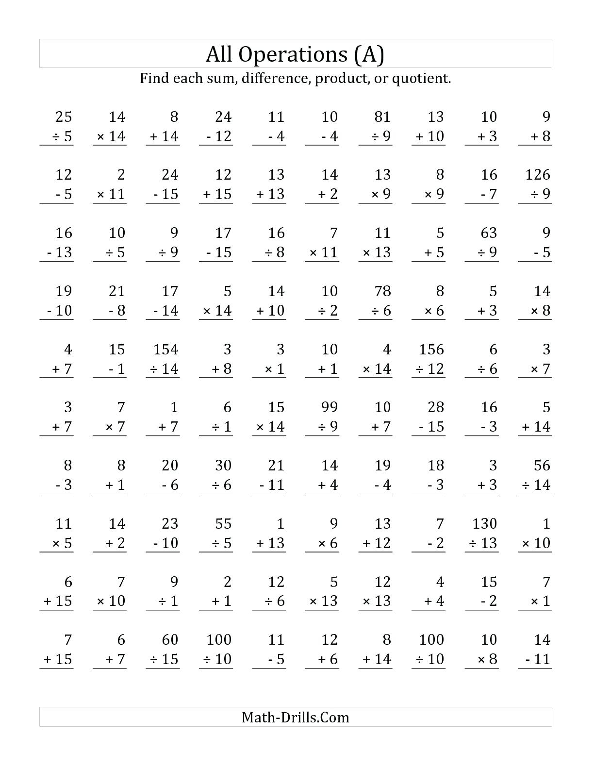 Math Worksheet Array Math Problems Book Answers Website
