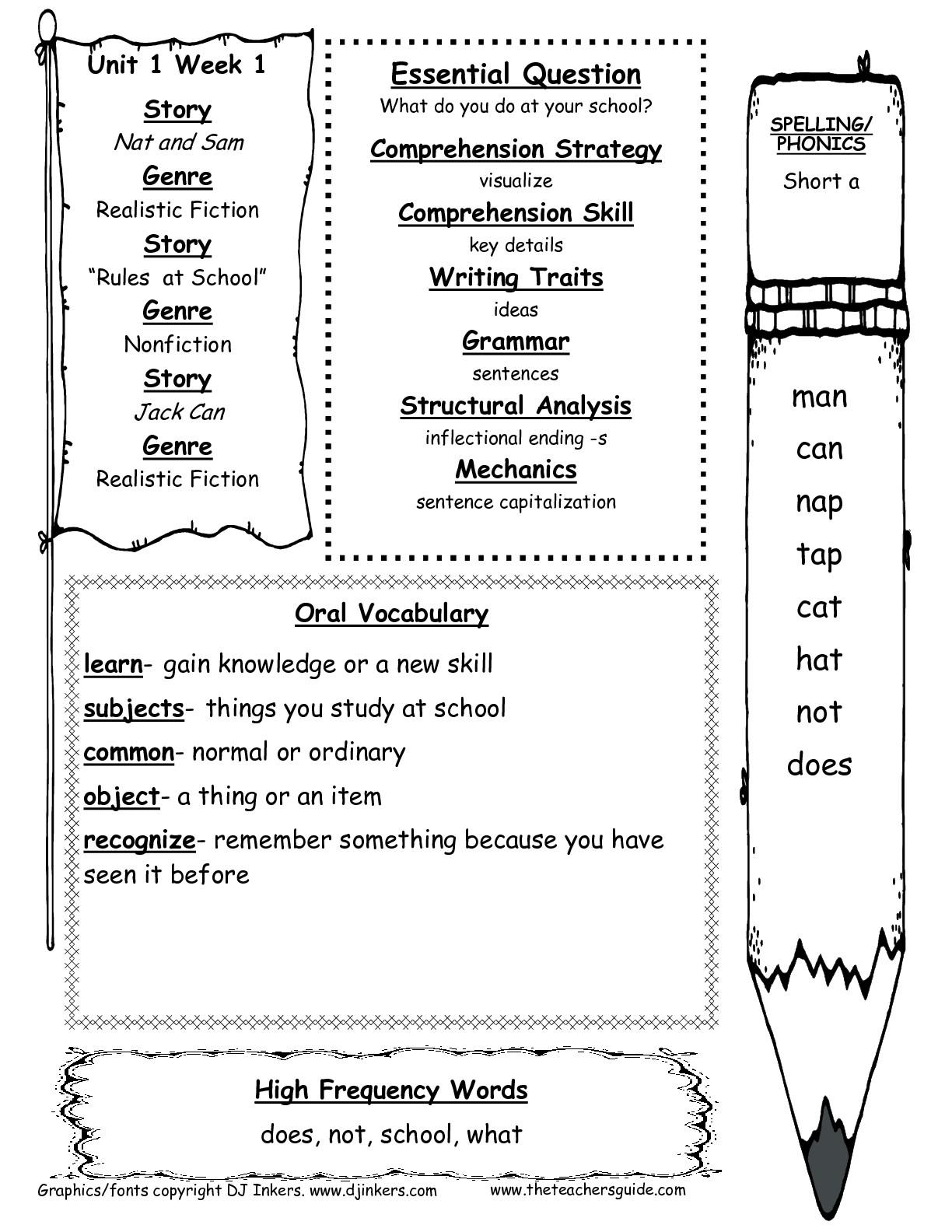Free Handwriting Worksheets For First Grade Favoritebook