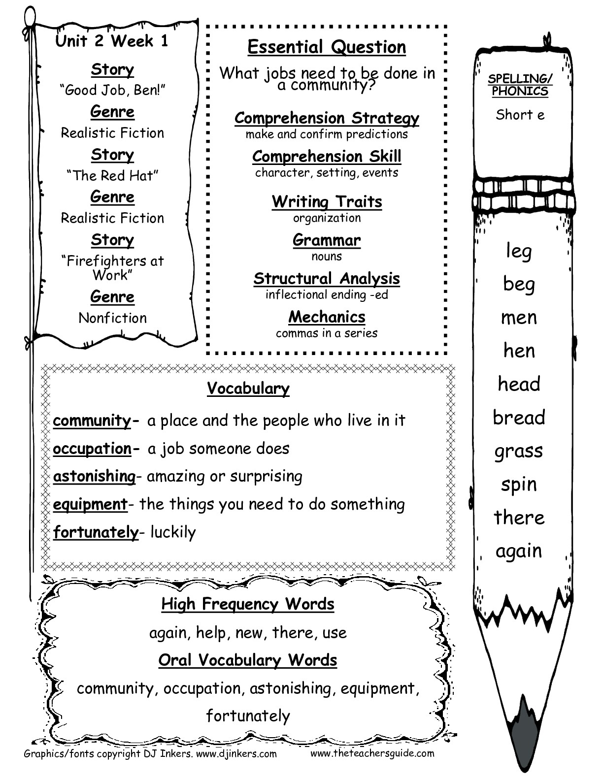 12 Worksheets For Dolch High Frequency Words