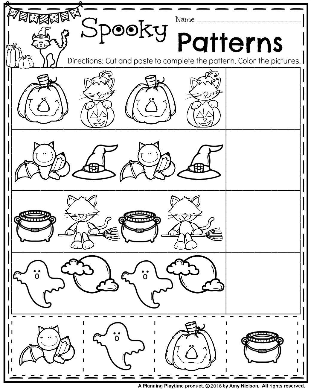 Kindergarten Halloween Drawing Activity Worksheet