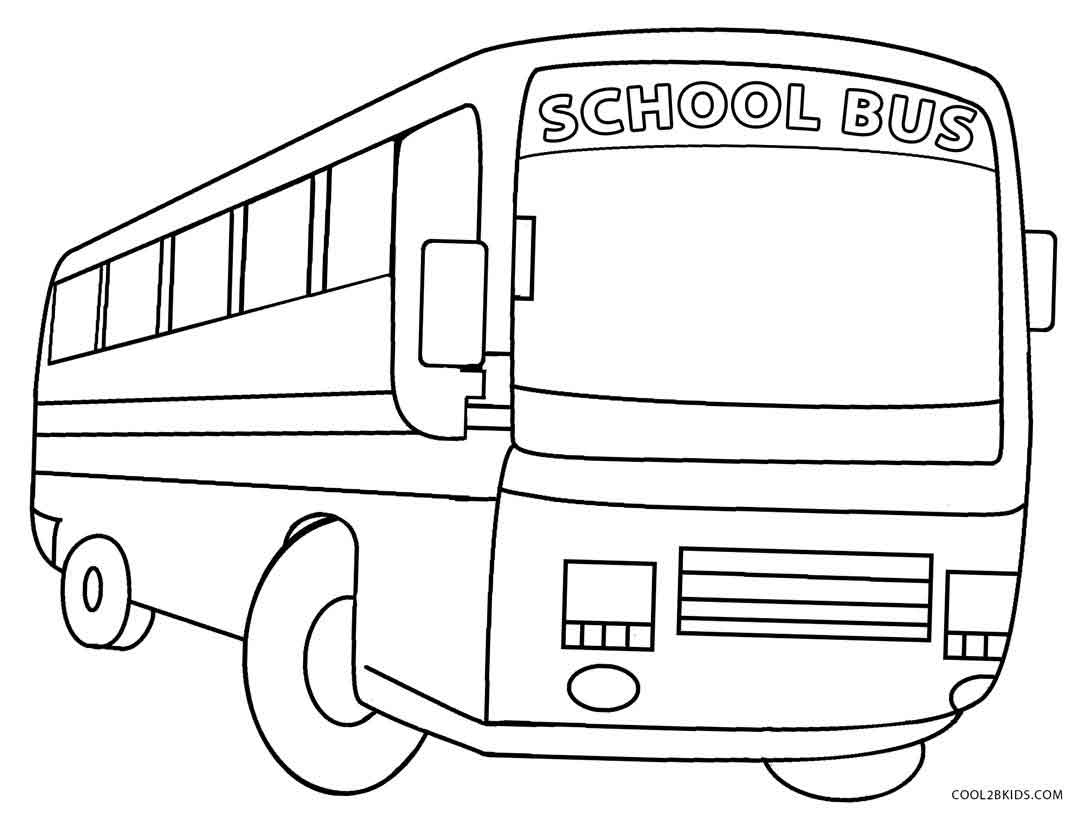 Printable Coloring Pages School Bus