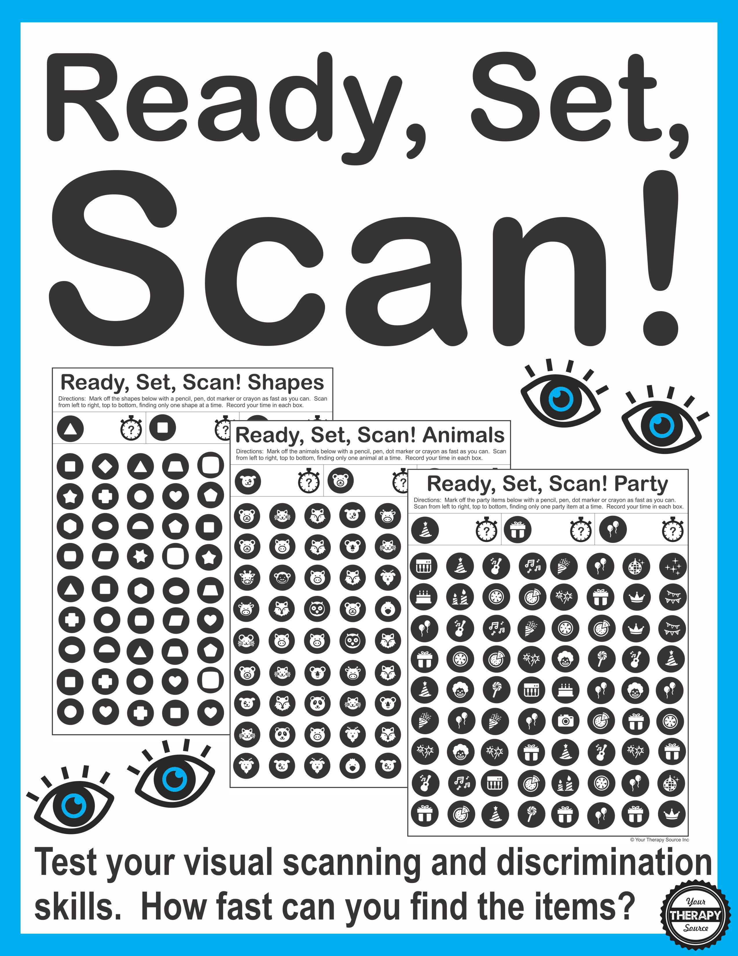 Printable Visual Scanning Worksheets For Adults