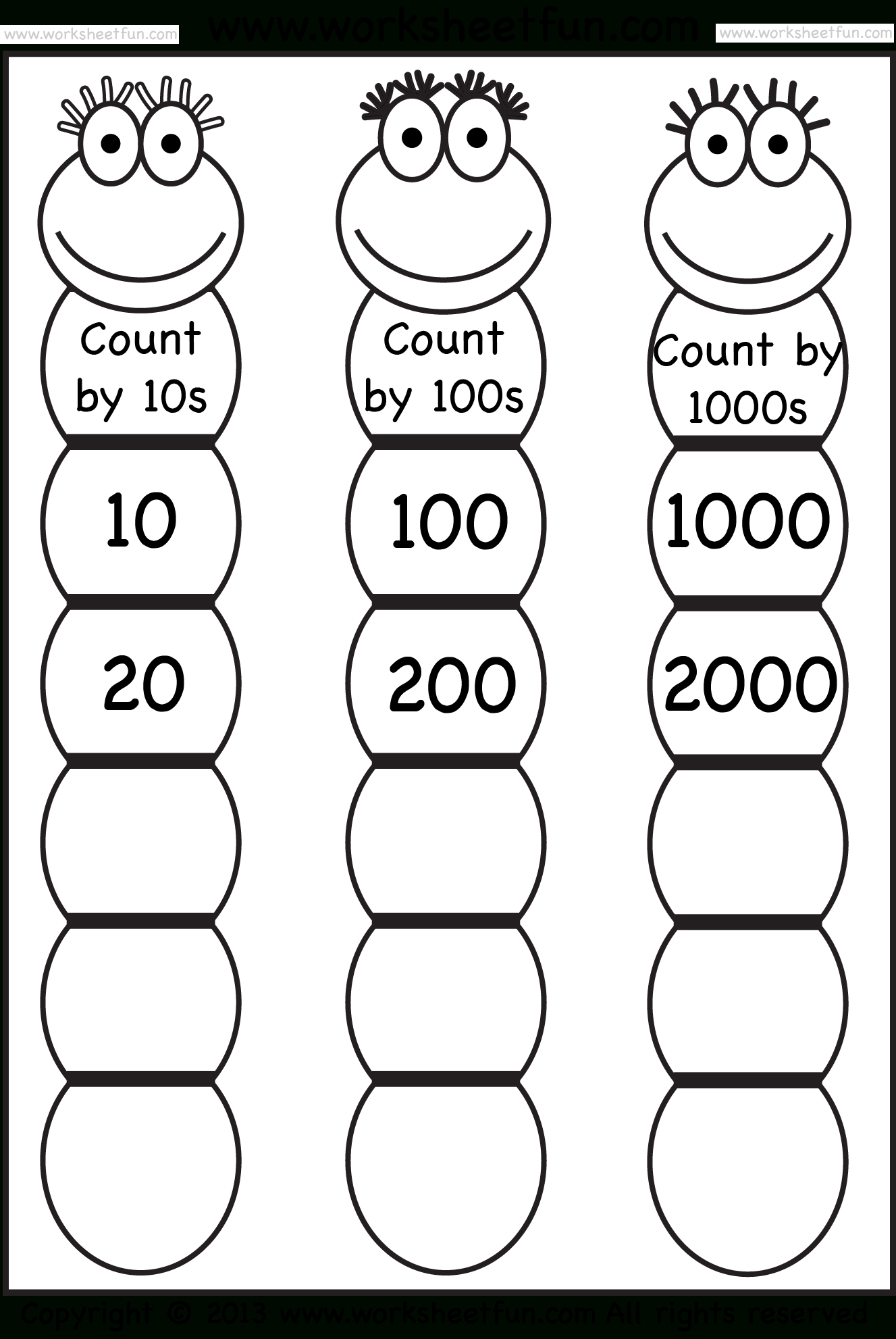 Simple Skip Counting Worksheets To Print