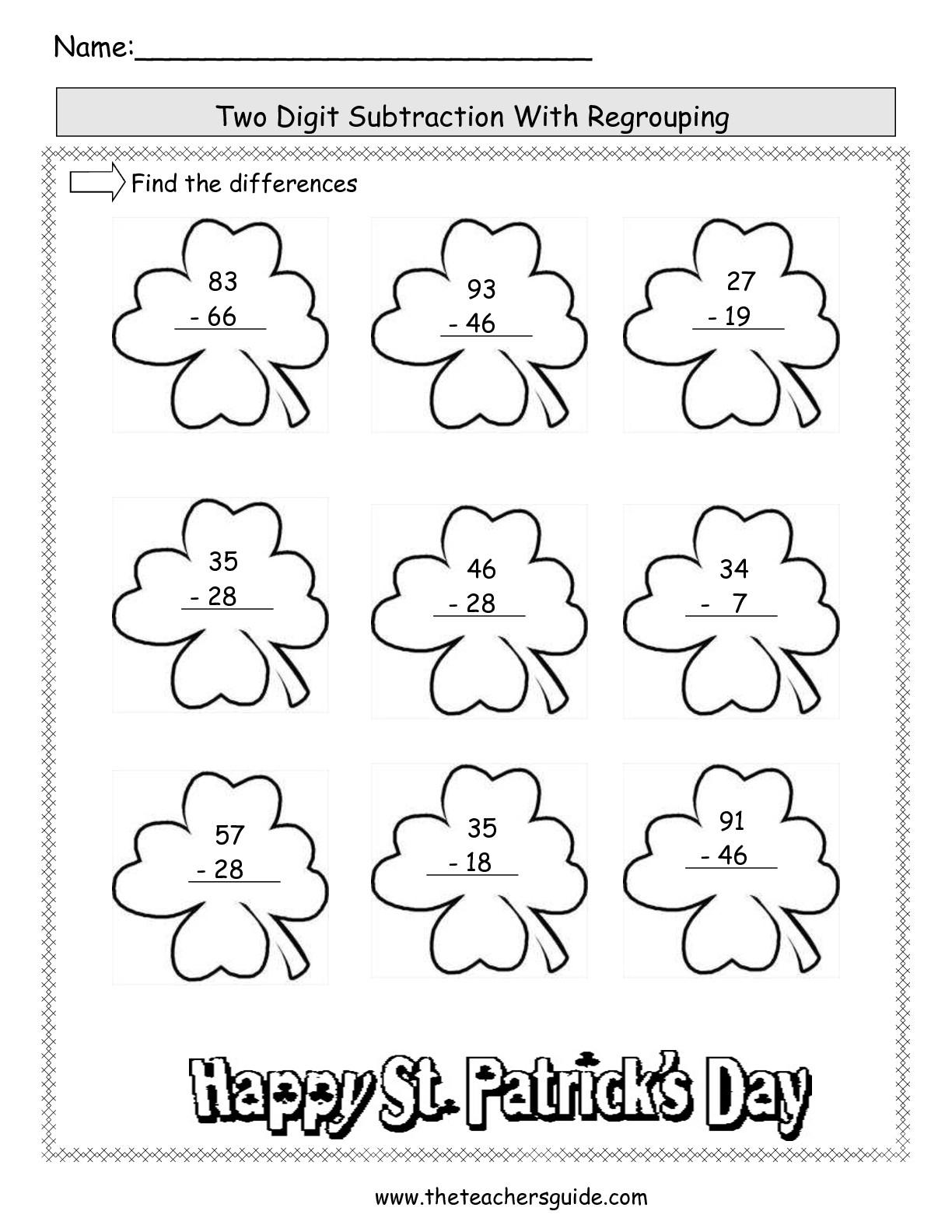 St Patricks Day Worksheets