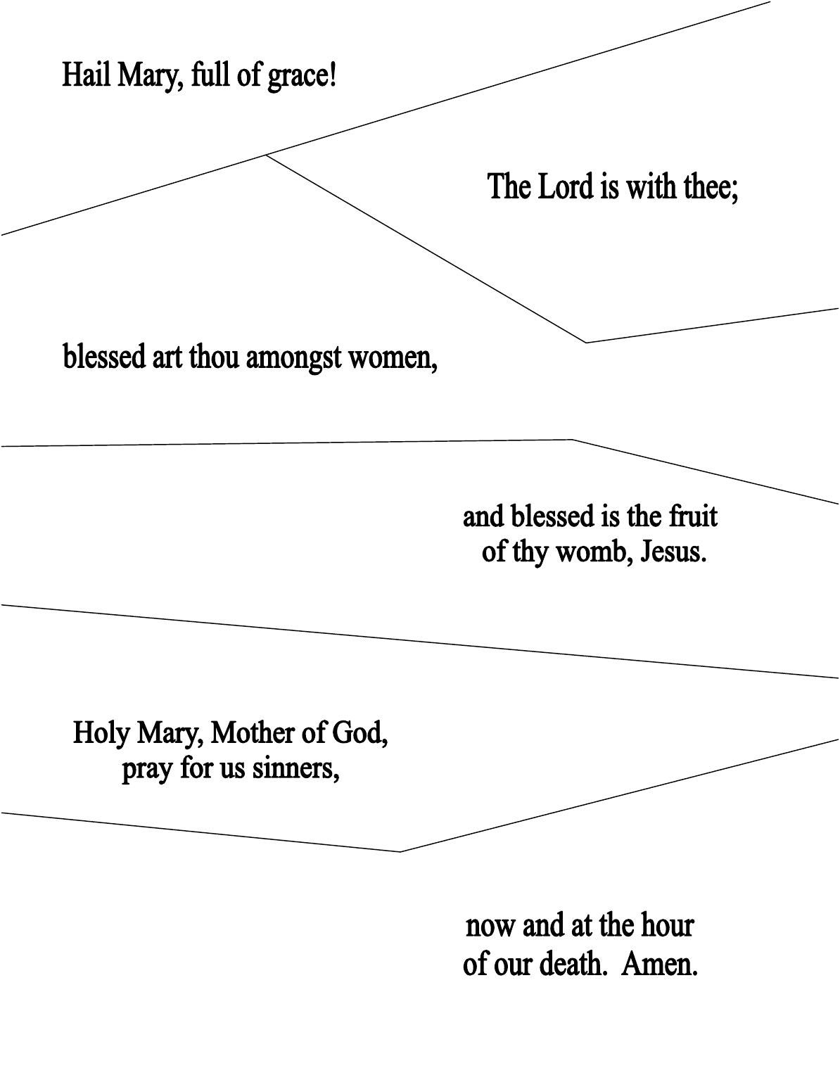 Free Printable Rosary Worksheets