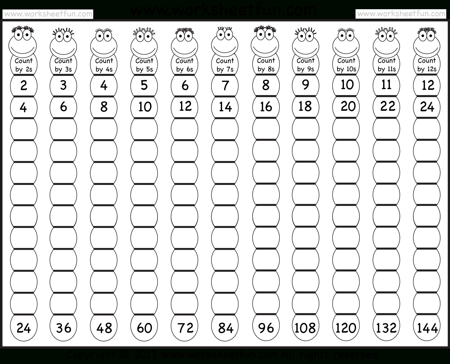 The Multiplying 1 To 126 A Math Worksheet From The