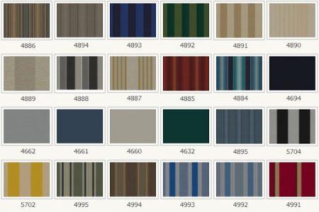 Pilihan warna canopy kain