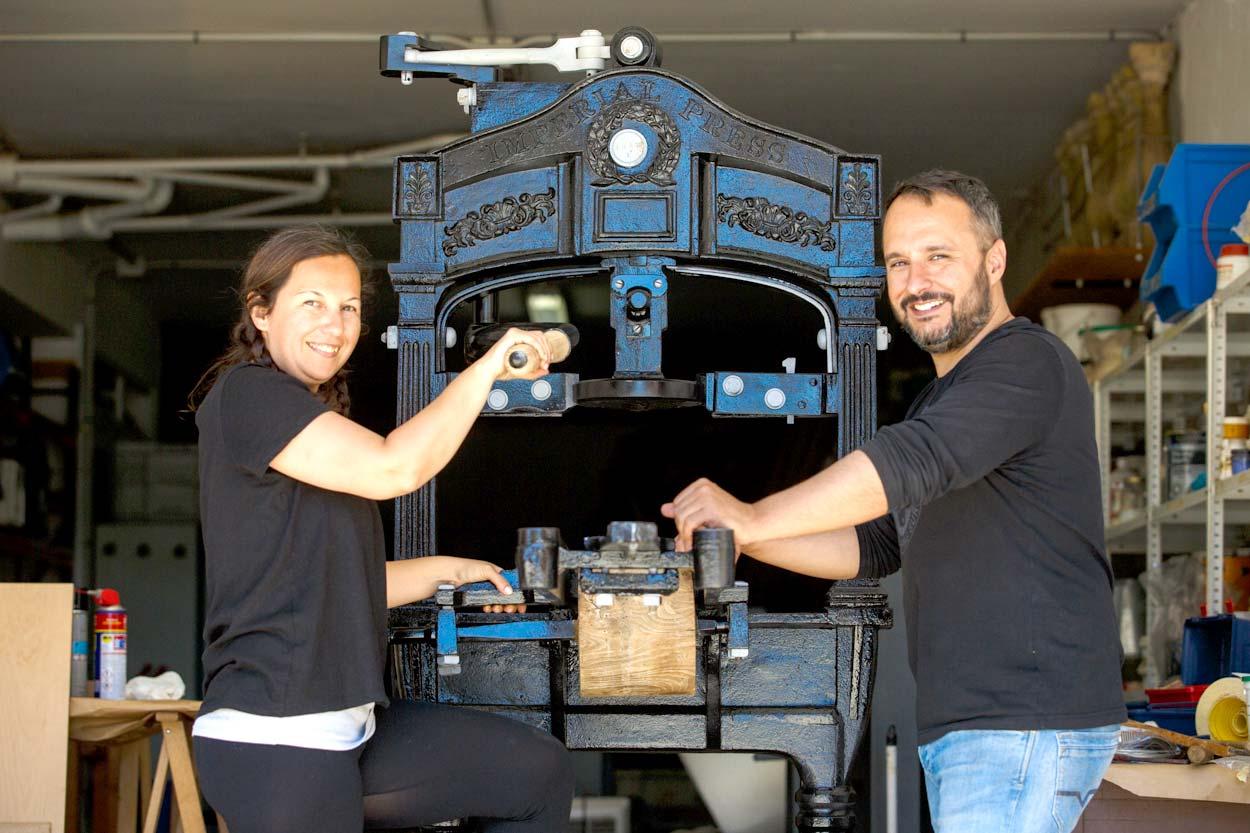 Laia Fernández y Jordi Riera responsables de su restauración