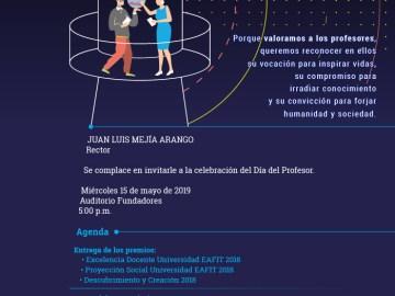 Celebración del Día del Profesor. Universidad EAFIT 2019