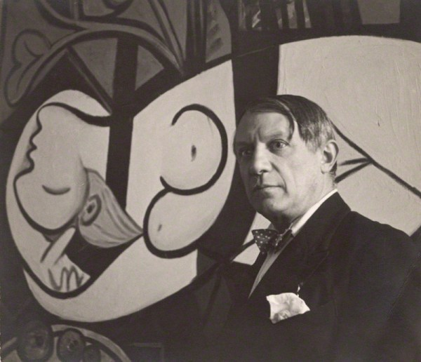 NPG x40326; Pablo Picasso with his painting of Marie ThÈrËse Walter (1932 Nude, Green Leaves and Bust) by Cecil Beaton