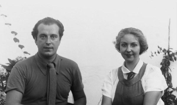 Rafael Alberti y su bellísima esposa