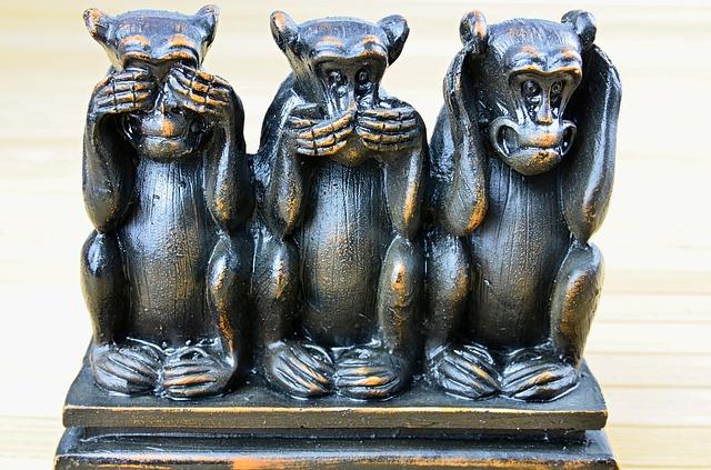 見ざる・言わざる・聞かざる 猿