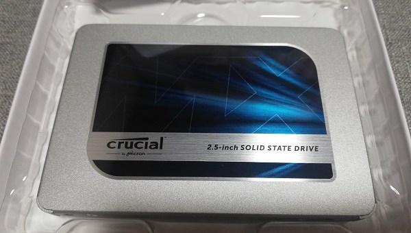 クルーシャル500GBのSSD