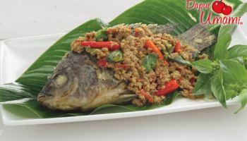 3. Cara Membuat Ikan Mujair Saus Oncom