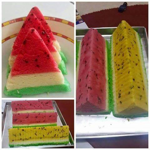 3. resep bolu kukus semangka