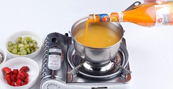 resep kue puding jeruk susu saus frambozen 3