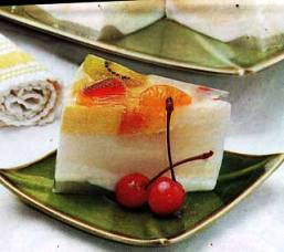 resep puding cara membuat puding isi aneka buah