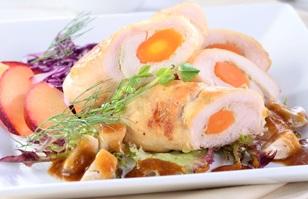 Resep Masakan Praktis Ayam Gulung Wortel Saus Jamur