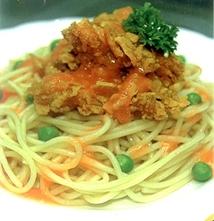 Resep Masakan Spaghetti Ayam Jeruk Krispi
