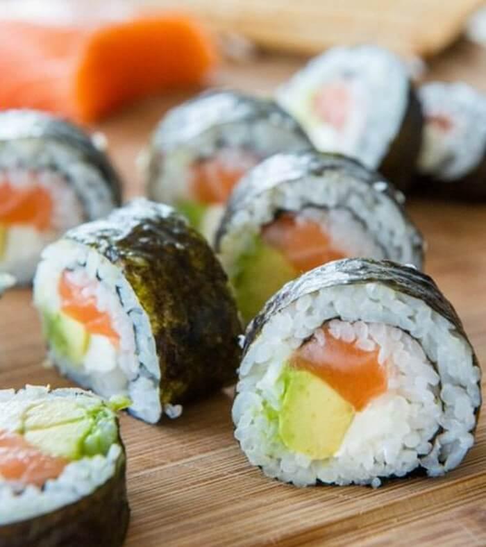 resep sushi avocado salmon