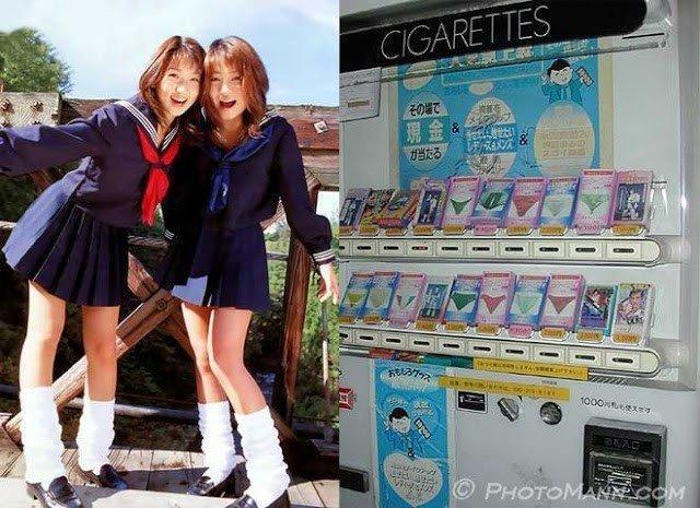 Сексуальные затейники  японцы покупают у девушек грязные трусы и мочу. Магазин Burusera (ブルセラ)