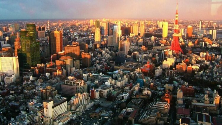Токио утром
