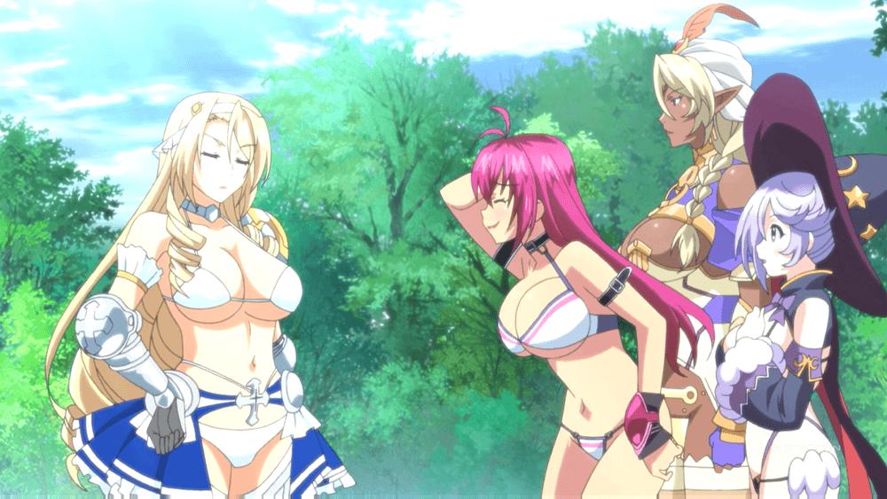 6 видов грудастых женщин, сражающихся мечами. Аниме «Bikini Warriors». 16+